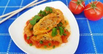 Cách làm món đậu hũ nhồi thịt sốt cà chua mềm thơm hấp dẫn ngon cơm