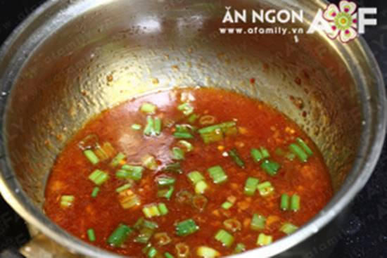 Cách làm món đậu hũ nhồi tôm thịt sốt chua ngọt đẹp mắt ngon cơm phần 14