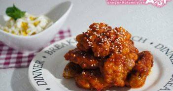Cách làm món gà chiên sốt cay kiểu Hàn Quốc cay nồng thơm lừng cực ngon