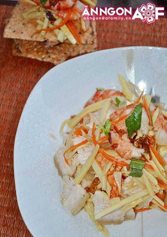 Cách làm món gỏi măng tôm thịt chua ngọt thơm ngon chống ngán ngày Tết phần 14