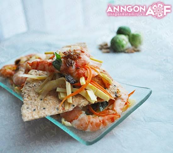 Cách làm món gỏi măng tôm thịt chua ngọt thơm ngon chống ngán ngày Tết phần 15