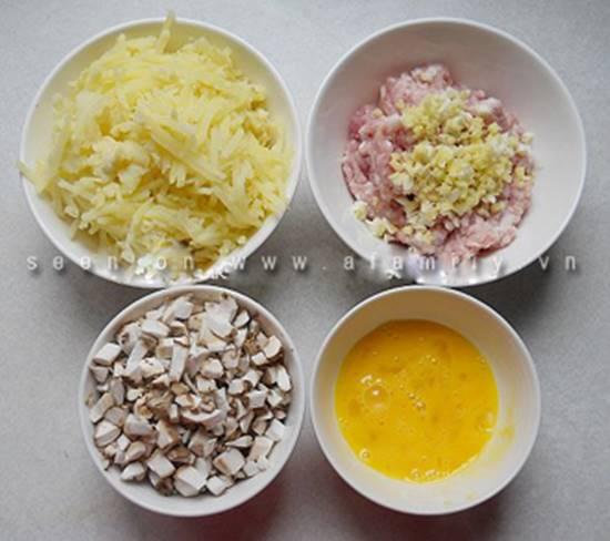 Cách làm món khoai tây nhân thịt nướng thơm ngon dẻo bùi cho các bé phần 5