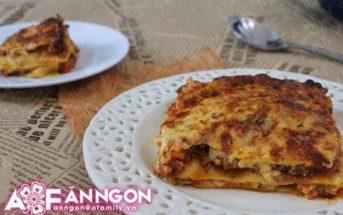 Cách làm món Lasagna đặc biệt thơm ngon hấp dẫn từ nước Ý