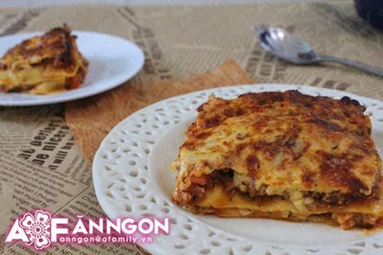 Cách làm món Lasagna đặc biệt thơm ngon hấp dẫn từ nước Ý phần 1
