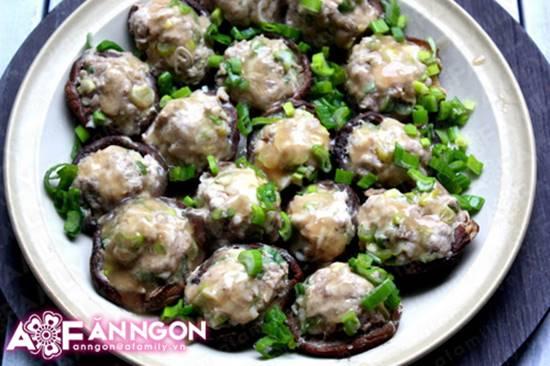 Cách làm món nấm nhồi thịt hấp mới lạ thơm ngọt thật ngon phần 9