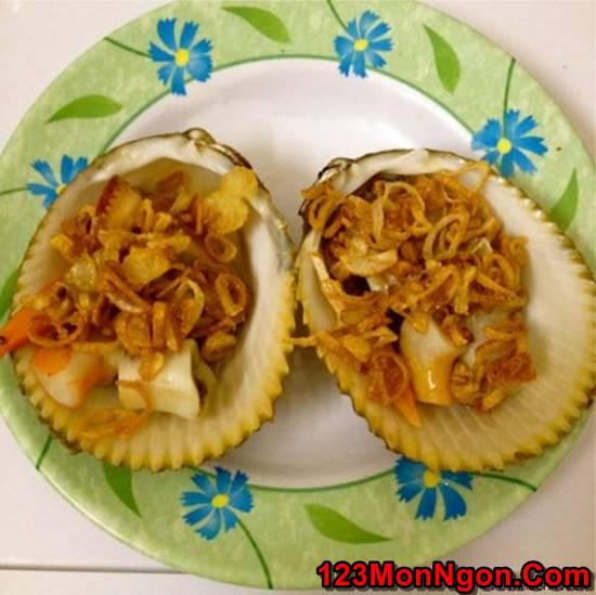 Cách làm món sò dương nướng mỡ hành đơn giản thơm lừng cực ngon phần 1