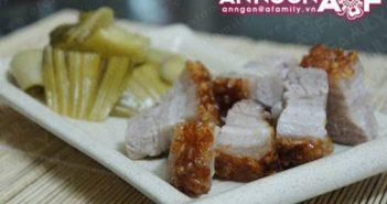 Cách làm món thịt heo quay giòn bì đẹp mắt thơm ngon không ngán