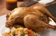 Cách làm món xôi ngũ vị nhồi gà nướng muối thơm ngon bổ dưỡng cho ngày Tết đầm ấm