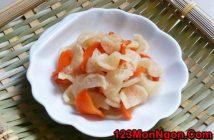 Cách làm củ cải muối đơn giản mà giòn ngon hấp dẫn cho ngày Tết