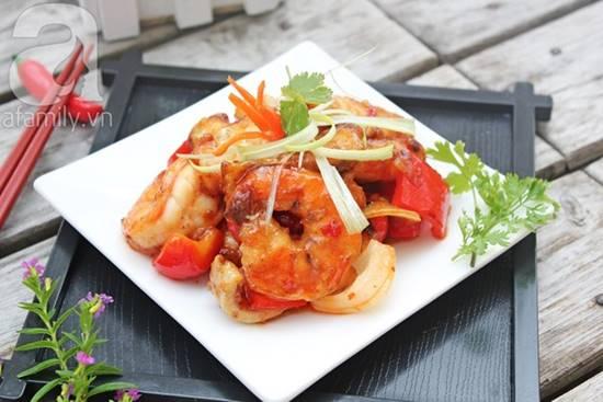 Cách làm món hải sản xào chua ngọt thơm ngon đơn giản cho bữa cơm tối phần 10