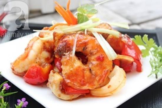 Cách làm món hải sản xào chua ngọt thơm ngon đơn giản cho bữa cơm tối phần 9