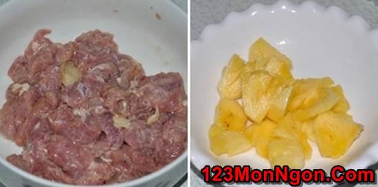 Cách làm món thịt heo xào dứa chua ngọt thơm ngon dễ ăn phần 4