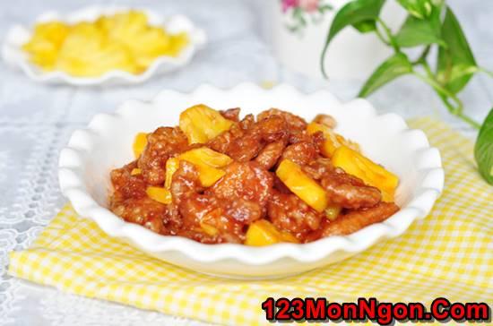 Cách làm món thịt heo xào dứa chua ngọt thơm ngon dễ ăn phần 7