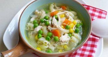 Cách nấu món súp nui gà xé thơm ngon bổ dưỡng thật đơn giản cho bé yêu