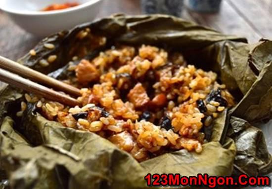 Cách nấu xôi gà hấp lá sen thơm dẻo hấp dẫn thật ngon đãi cả nhà ngày Tết 123monngon: Món ngon mỗi ngày - Mẹo vặt nội trợ - Địa điểm ăn uống