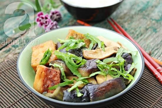 Cách làm món đậu phụ kho cà tím chay thơm ngon hấp dẫn phần 1