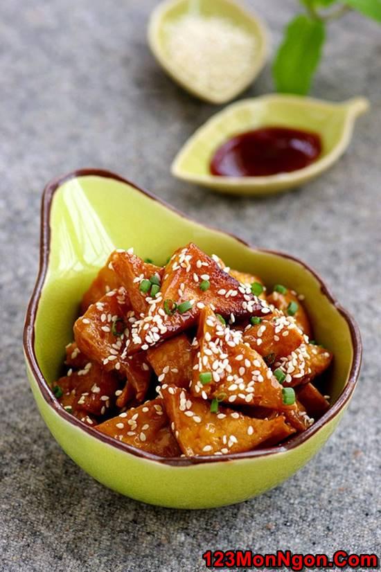 Cách làm món đậu rim ngũ vị thơm ngon hấp dẫn ăn là ghiền phần 1