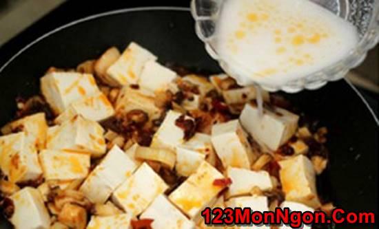 Cách làm món đậu sốt nấm đậm đà thanh tịnh thơm ngon cho ngày ăn chay phần 5