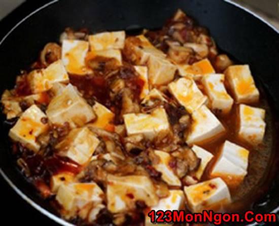 Cách làm món đậu sốt nấm đậm đà thanh tịnh thơm ngon cho ngày ăn chay phần 6