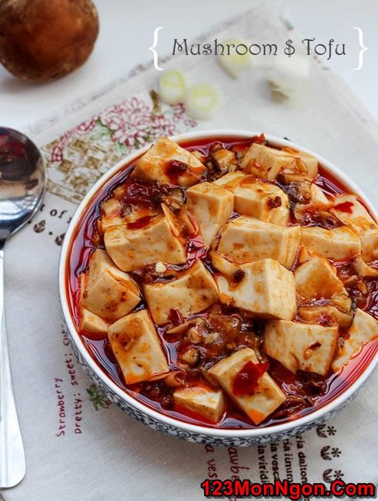 Cách làm món đậu sốt nấm đậm đà thanh tịnh thơm ngon cho ngày ăn chay phần 7