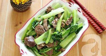 Cách làm món rau cải xào gan gà thơm ngon bổ dưỡng cho bữa ăn đủ chất