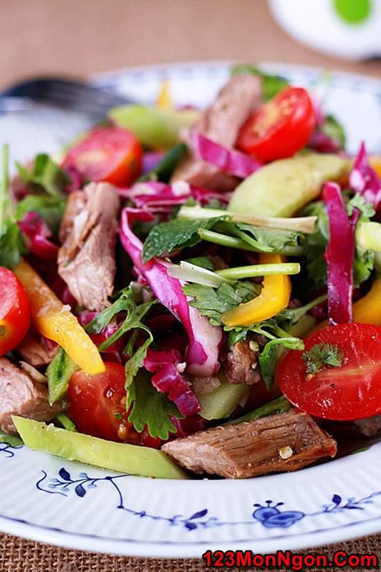 Cách làm món salad bò kiểu Thái thơm ngon mới lạ không gây ngán