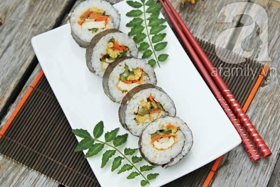 Cách làm món sushi chay thơm ngon lạ miệng đãi cả nhà thưởng thức phần 1