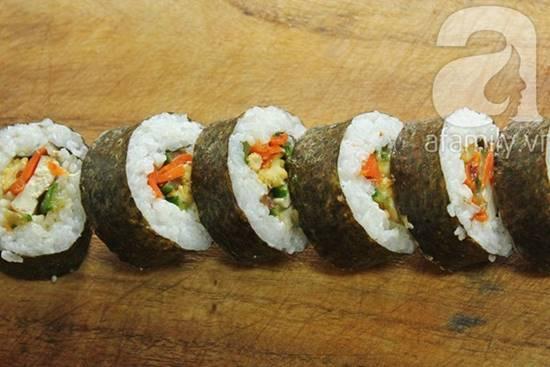 Cách làm món sushi chay thơm ngon lạ miệng đãi cả nhà thưởng thức phần 10