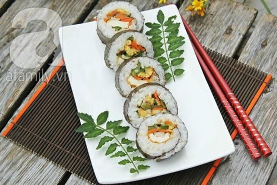 Cách làm món sushi chay thơm ngon lạ miệng đãi cả nhà thưởng thức phần 11
