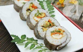 Cách làm món sushi chay thơm ngon lạ miệng đãi cả nhà thưởng thức