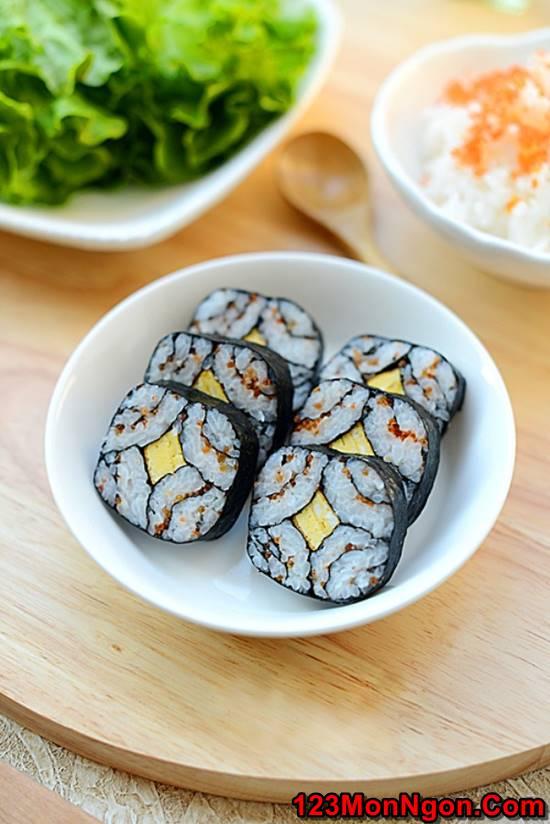 Cách làm sushi độc đáo đơn giản mà cực đẹp mắt thơm ngon phần 1