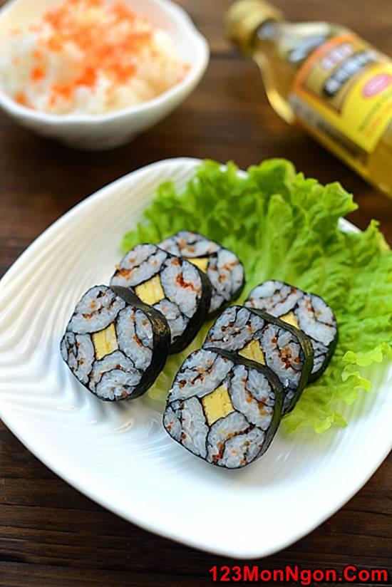 Cách làm sushi độc đáo đơn giản mà cực đẹp mắt thơm ngon phần 8