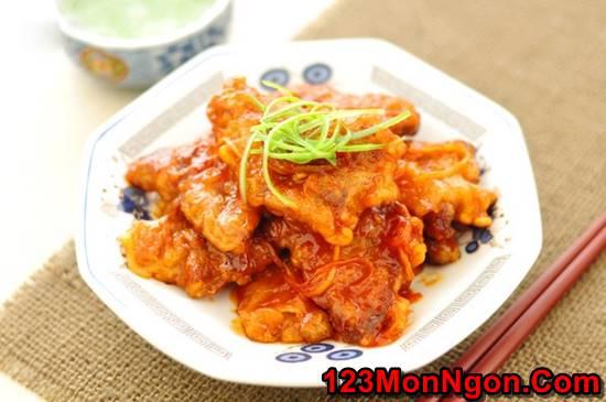 Cách làm thịt heo chiên giòn sốt chua ngọt thơm ngon hấp dẫn ăn là ghiền phần 1
