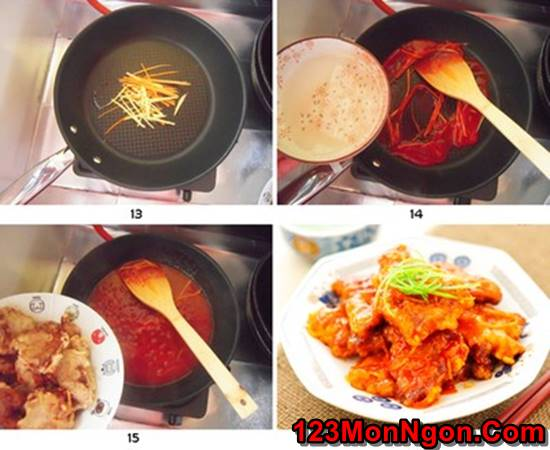 Cách làm thịt heo chiên giòn sốt chua ngọt thơm ngon hấp dẫn ăn là ghiền phần 6