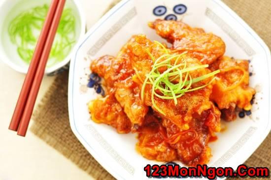 Cách làm thịt heo chiên giòn sốt chua ngọt thơm ngon hấp dẫn ăn là ghiền phần 7