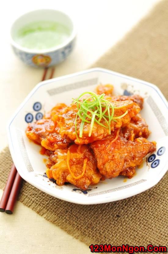 Cách làm thịt heo chiên giòn sốt chua ngọt thơm ngon hấp dẫn ăn là ghiền phần 8