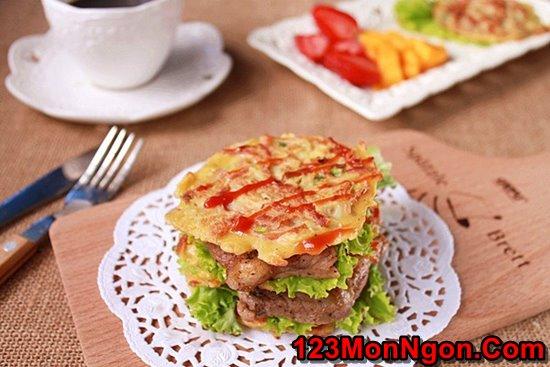 Cách làm Burger bò thơm ngon hấp dẫn không cần lò nướng cho bữa sáng đủ chất phần 1