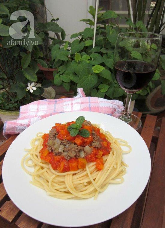 Cách làm mì ý sốt cà chua bò bằm thơm ngon bổ dưỡng cho bữa sáng phần 1