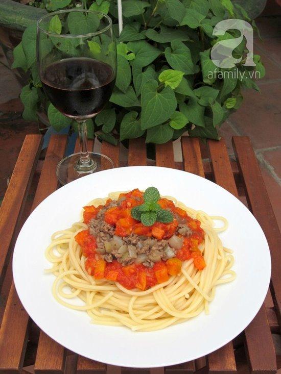 Cách làm mì ý sốt cà chua bò bằm thơm ngon bổ dưỡng cho bữa sáng phần 10