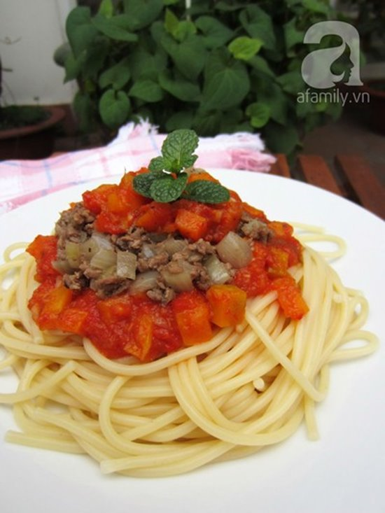 Cách làm mì ý sốt cà chua bò bằm thơm ngon bổ dưỡng cho bữa sáng phần 9