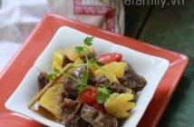 Cách làm món bò kho dứa mềm thơm chua ngọt cực ngon cơm