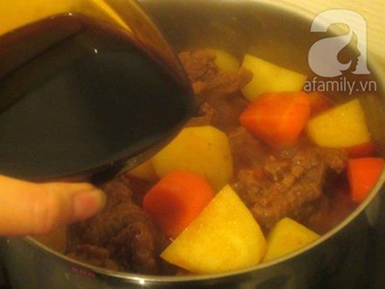 Cách làm món bò sốt vang đậm đà nóng hổi cực ngon cho bữa tiệc cuối tuần phần 10