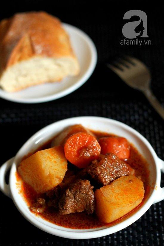 Cách làm món bò sốt vang đậm đà nóng hổi cực ngon cho bữa tiệc cuối tuần phần 12