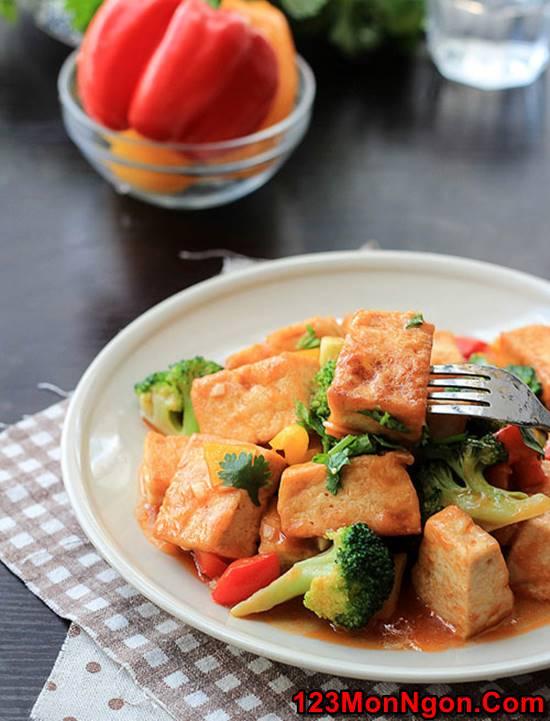 Cách làm món đậu sốt chua ngọt thơm ngon dễ làm dễ ăn phần 5