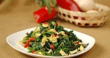 Cách làm món rau cải bó xôi xào trứng thơm ngon hấp dẫn