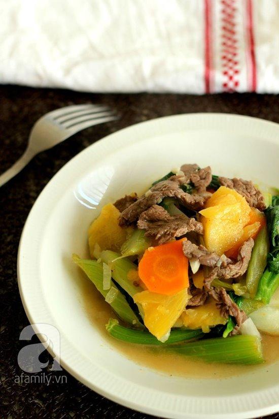Cách làm món thịt bò xào cần thơm lừng hấp dẫn cực ngon phần 15