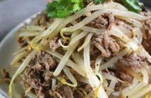 Cách làm món thịt bò xào giá đỗ đơn giản mà thơm ngon bổ dưỡng
