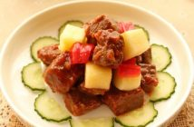 Cách làm thịt bò xào táo mới lạ thơm ngon đổi vị cuối tuần