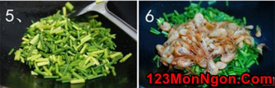 Cách làm tôm xào bông hẹ thanh mát bổ dưỡng cực ngon cơm phần 6