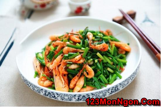 Cách làm tôm xào bông hẹ thanh mát bổ dưỡng cực ngon cơm phần 7